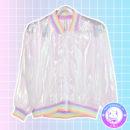 maria kawaii store – chaqueta harajuku holografica holographic jacket rainbow arcoiris