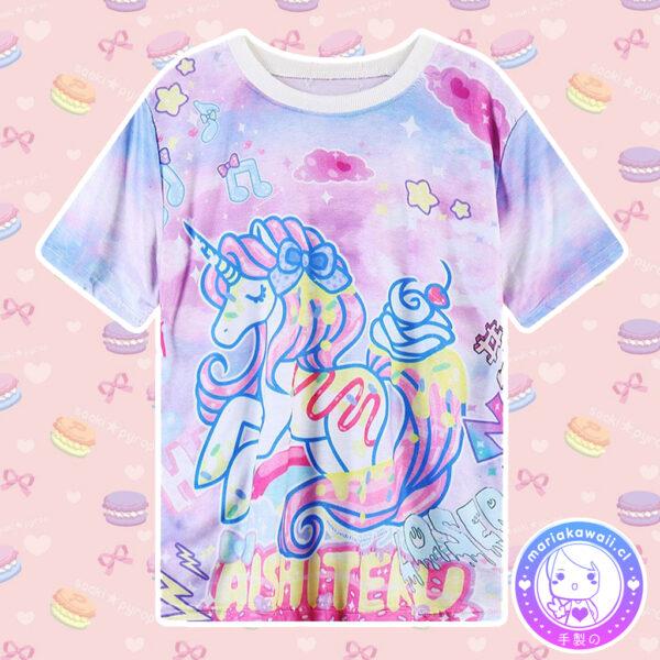 maria kawaii store – polera harajuku unicornio aishiteru