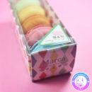 maria kawaii store – papelería set de gomas de borrar forma de macarons 2