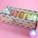 maria kawaii store – papelería set de gomas de borrar forma de macarons 3