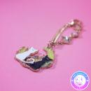maria kawaii store – accesorio anime sailor moon llavero colgante bolso artemis y luna 2