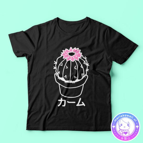 maria kawaii – polera tubular cactus negro