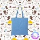 maria kawaii store – tote bag brown line eat more hamburguer 2