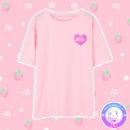 maria kawaii store – polera milk ichigo leche frutilla tee shirt pink rosa 2