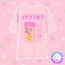 maria kawaii store – polera milk ichigo leche frutilla tee shirt pink rosa 3